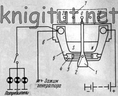 Схема амперметра легкового