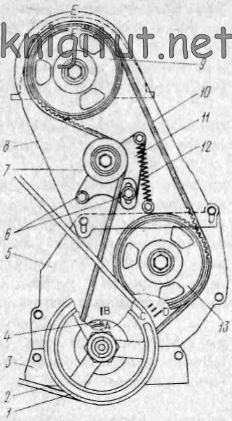 Схема привода механизма